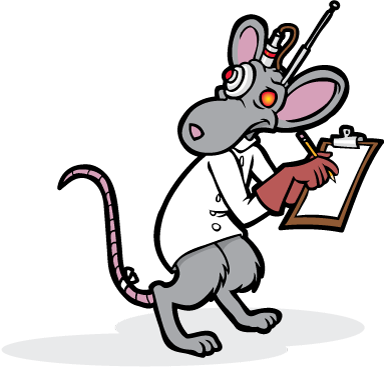 Hazmat the Rat with Clipboard