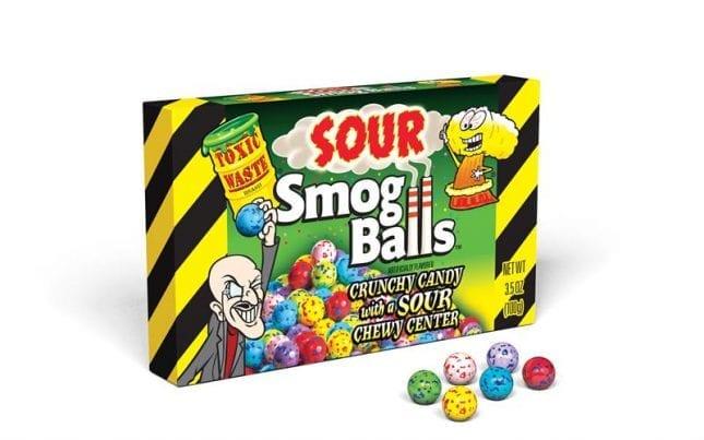 Toxic Waste Sour Smog Balls Theatre Boxes