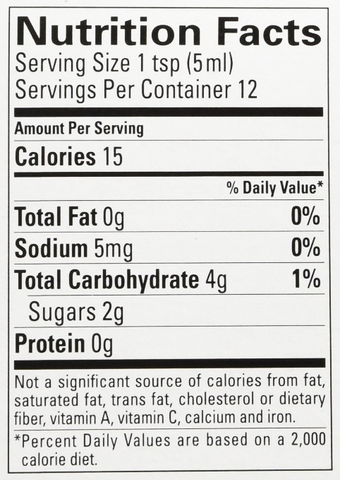 Nutritional Information for Slime Licker Bottle