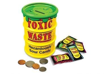 Toxic Waste Sour Candy and Bank