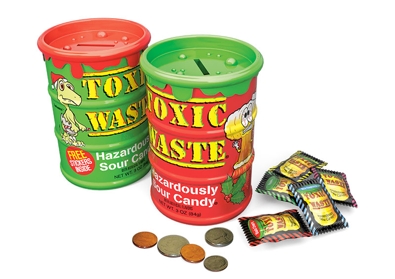 Toxic Waste Candy Sour and Holiday Bank