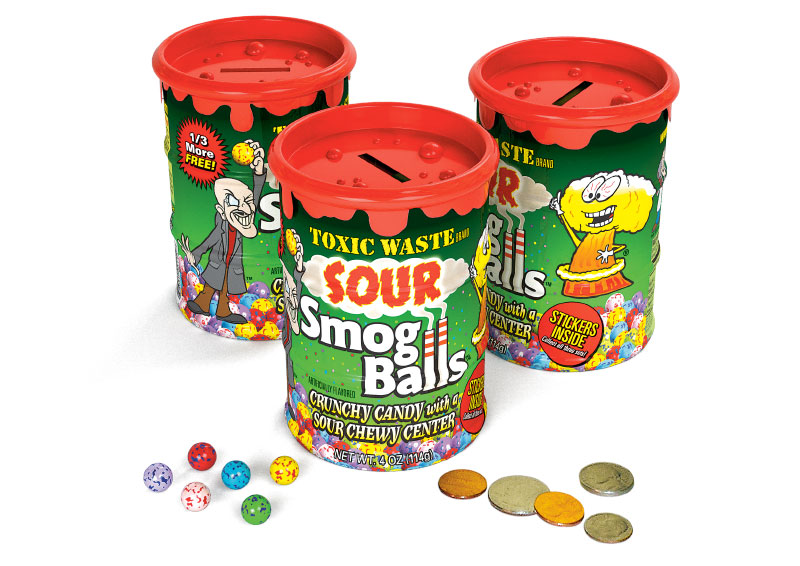 Toxic Waste Candy - Sour Smog Balls Bank