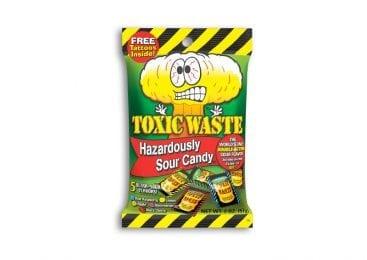 Toxic Waste Candy - Sour Candy 2 oz. Foil Peg Bag